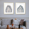 """Agates"" Set of Two Art Prints"