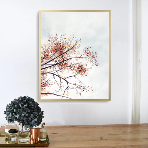"""Autumn Sway"" Fall Tree Art Print"
