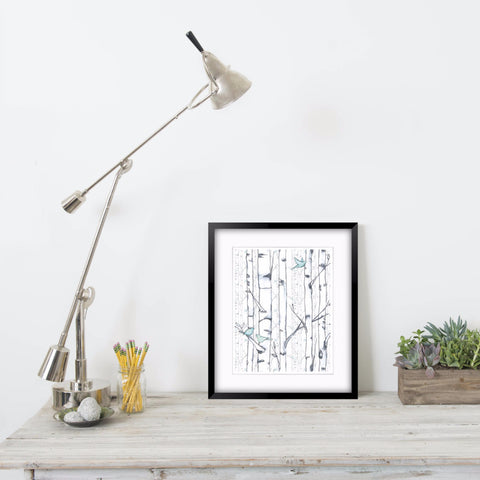 BETWEEN THE TREES - Signature Collection - Art Print in 2 Sizes