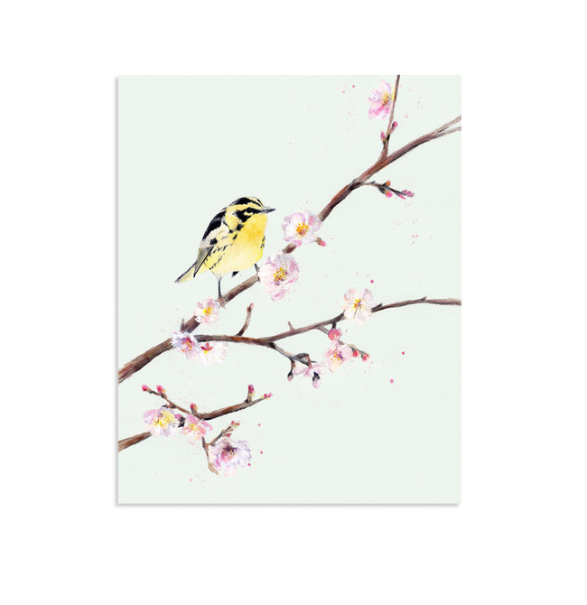 """Birds and Blooms"" Set of Two Art Prints"
