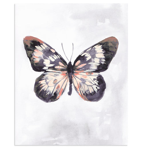 """Coral Wings"" Butterfly Art Print"