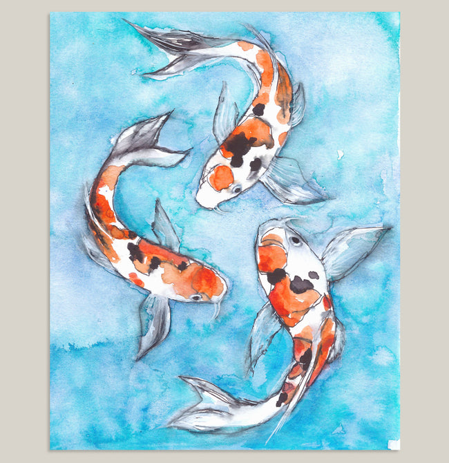 Kismet Koi Fish Art Print State Of April