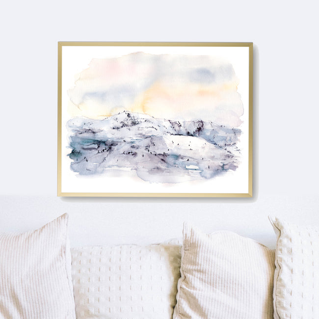 """Wind Down"" Landscape Art Print"