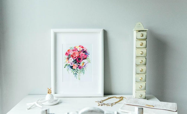 beautiful art colorful floral print