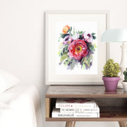 """In Bloom"" Peonies Floral Art Print"