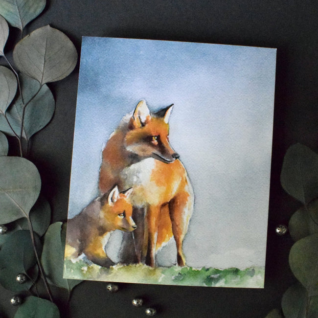 """CURIOUS"" Animal Watercolor Art"