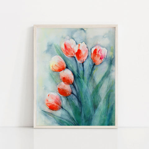 """Rain or Shine"" Tulip Art Print"