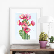 """Showstopper"" Cactus Art Print"