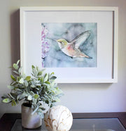 """Fleeting Moment"" Hummingbird Art Print"