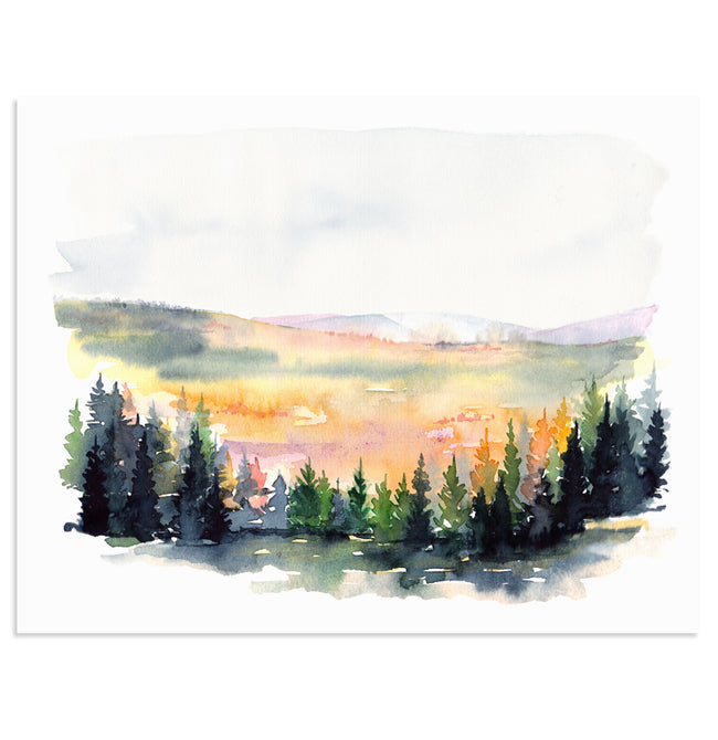 """Into Fall"" Landscape Art Print"