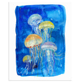 """Jelly Time"" Jelly Fish Art Print"