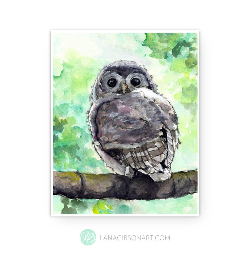 OWLET - Signature Collection - Art Print in 2 Sizes