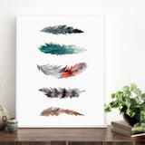 """FEATHER STUDY II"" Feathers Art Print"