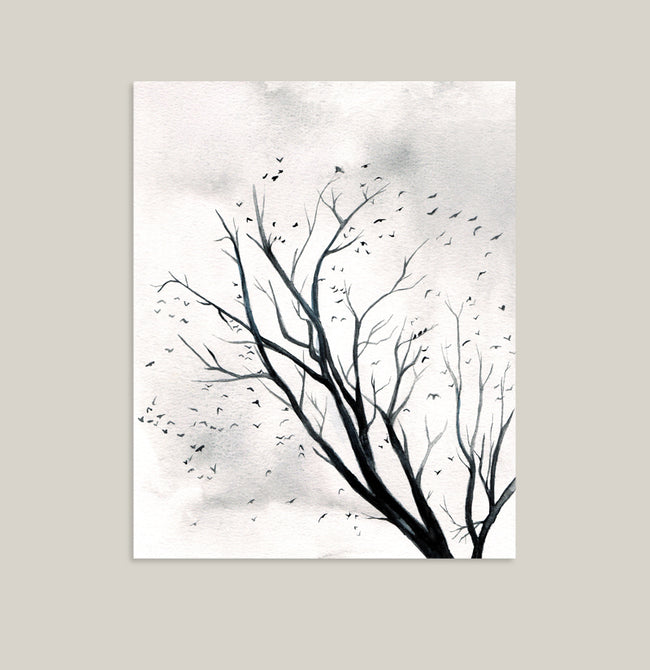 """Peppered Sky"" Landscape Art Print"
