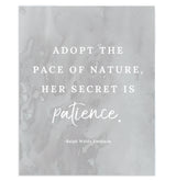 """Adopt the Pace"" Quote Art Print"