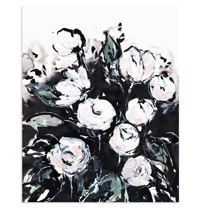 """Softly Now"" Floral Art Print"