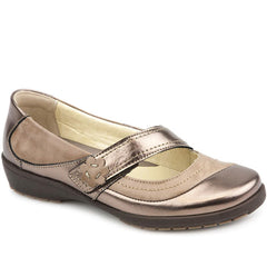 Wide Fit Leather Mary Jane - CAL1805 / 145 968