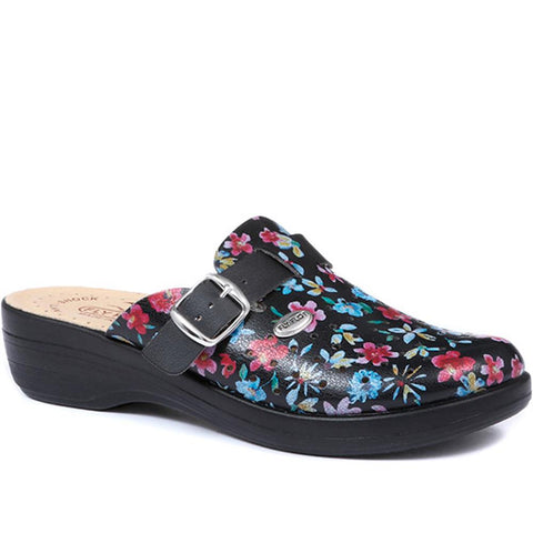 Floral Print Clog (FLY29028) by Fly
