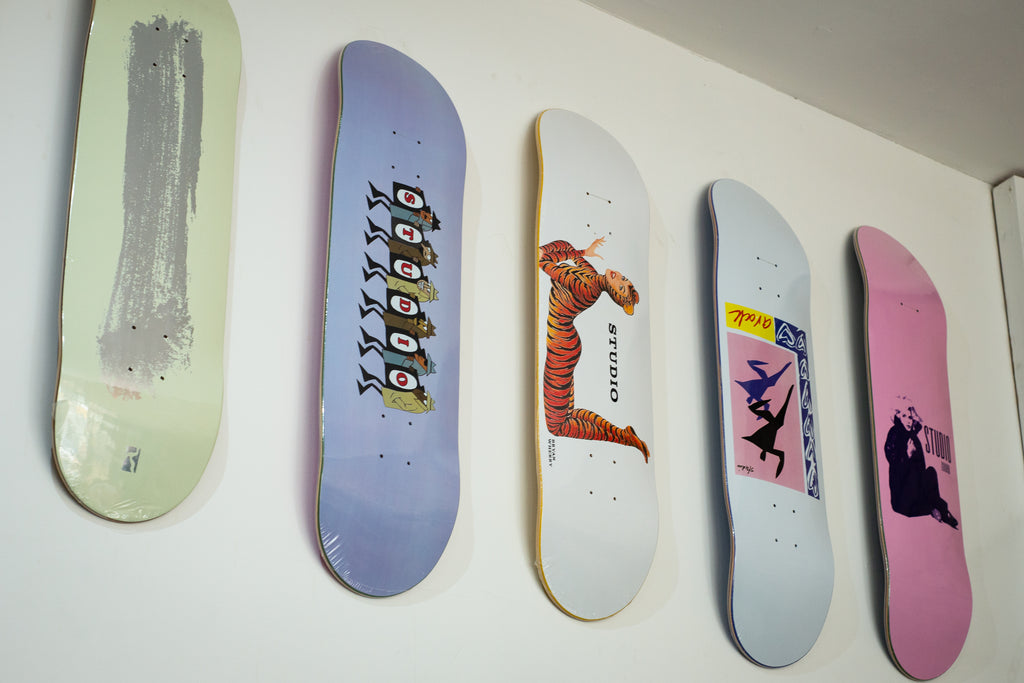 Latest Studio decks and clobber!