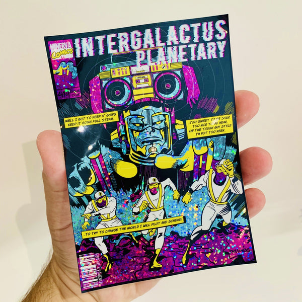 Intergalactus Glitter Sticker