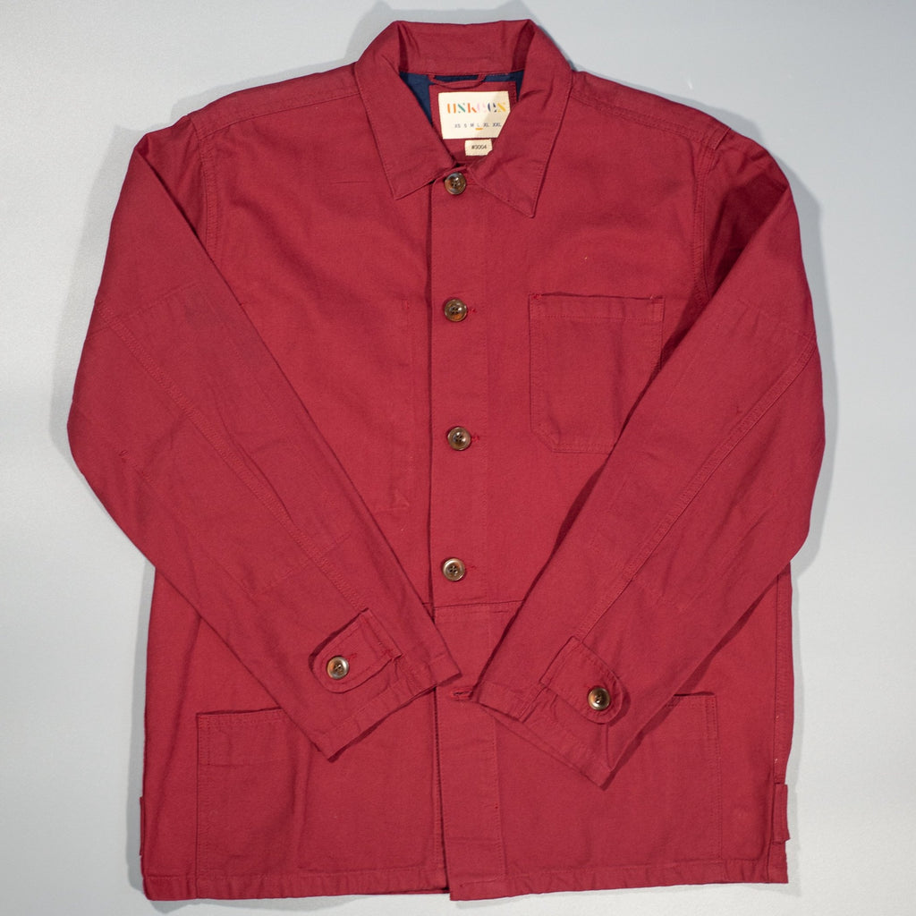 Buttoned Jacket Red
