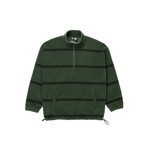 Striped pullover fleece
