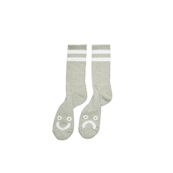 Happy sad socks grey heather