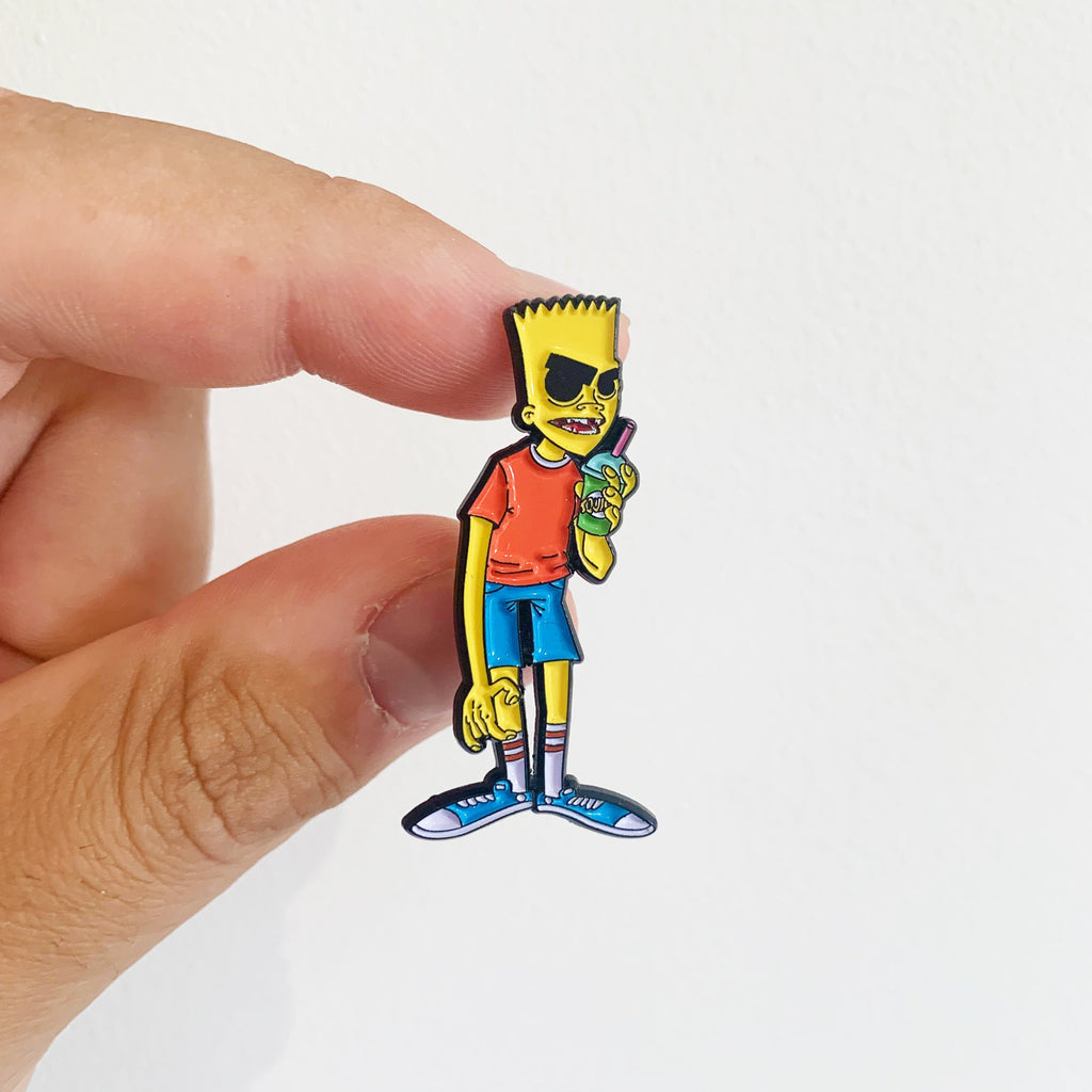 Bart x Squishee Gorilaz Pin Badge