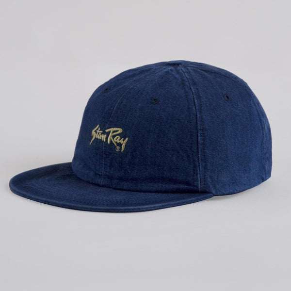 Ball cap washed denim