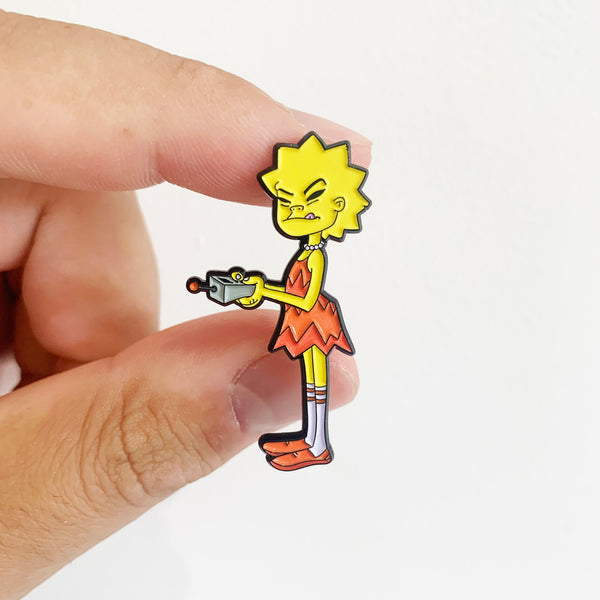 Leesa x Squishee Gorilaz Pin Badge