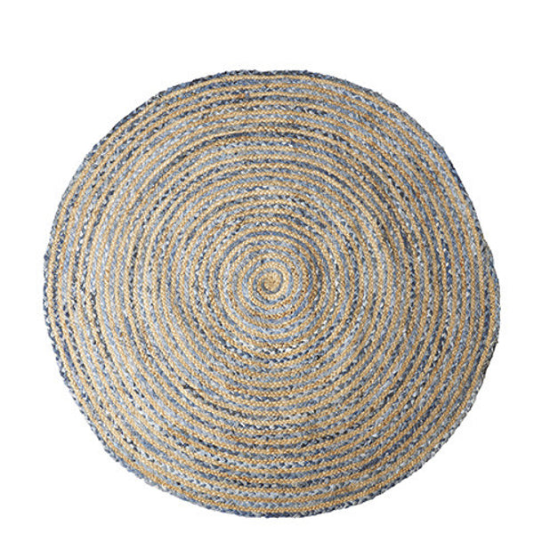 Juni Rug - Medium - Natur/Blue - The Nest Shop