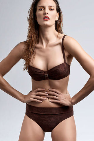 Puritsu - Fold Down brief - Brown