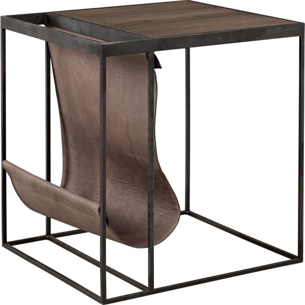 MAGAZINE sidetable Carbon/lampre - The Nest Shop