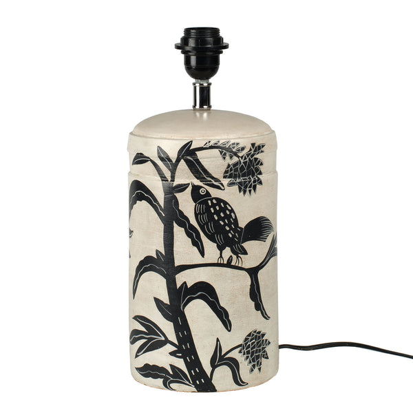 Bordlampe hvit/svart - The Nest Shop