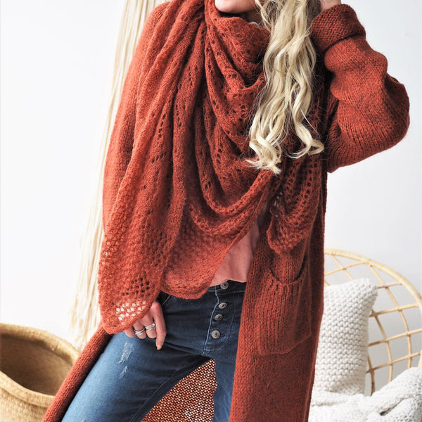 ByPias - Slowly Morning Cardigan - Burnt Orange - The Nest Shop
