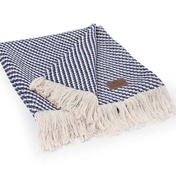 Diagonal Structure throw - Blue - The Nest Shop