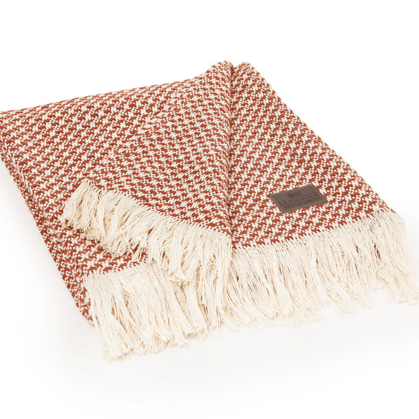 Striped Structure throw - Coral - The Nest Shop