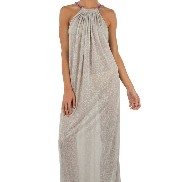 Aegean Long Dress - Grey - The Nest Shop