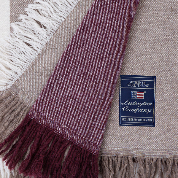 Square Wool Throw - The Nest Shop