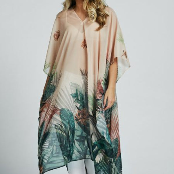 A826 - Lang Kaftan - Jungle Peach - The Nest Shop