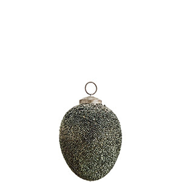 Hanging egg with beads - teal - small - The Nest Shop