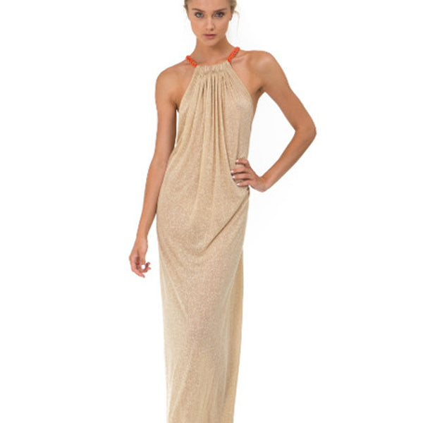 Aegean Long Dress - Nude - The Nest Shop