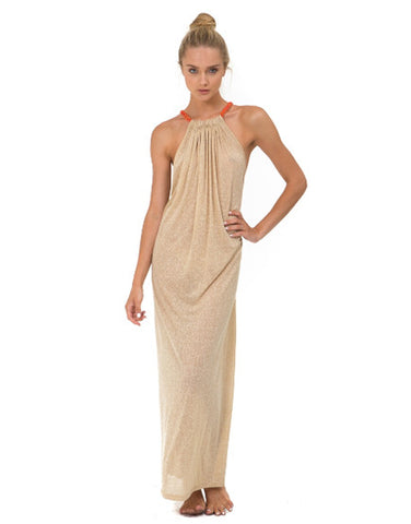Aegean Long Dress - Nude