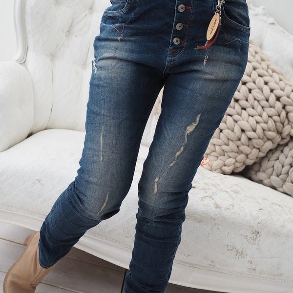 ByPias - Perfect Jeans Baggy Chic - Dark Blue - The Nest Shop