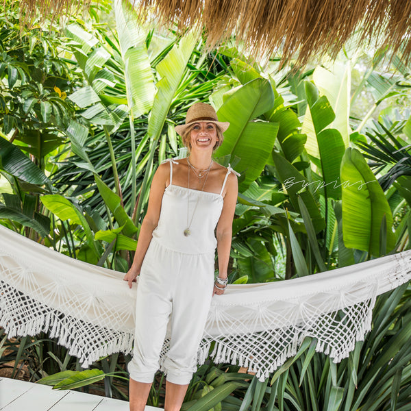 Bypias - Bamboo Jumpsuit - Pure White - The Nest Shop