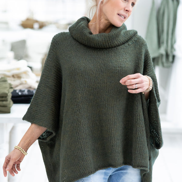 ByPias - Loosely Mohair Jumper - Green