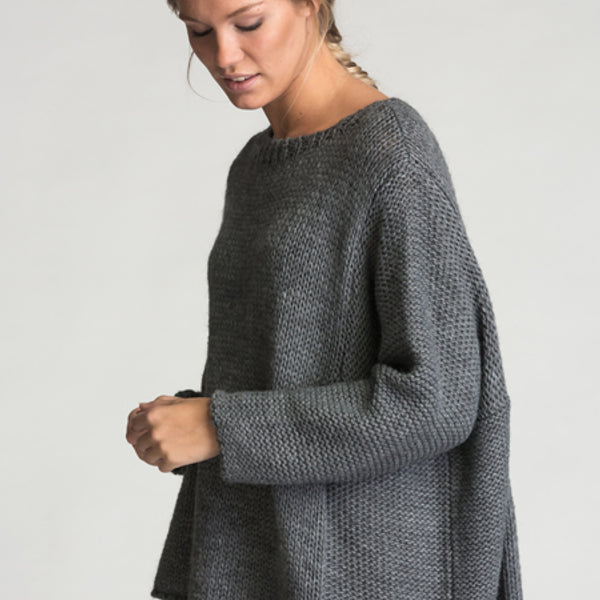 3bde11fe IT798 - Strikket genser - Dark Charcoal - The Nest Shop