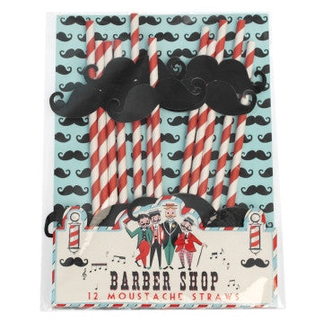 Barber Shop Moustache - Sugerør