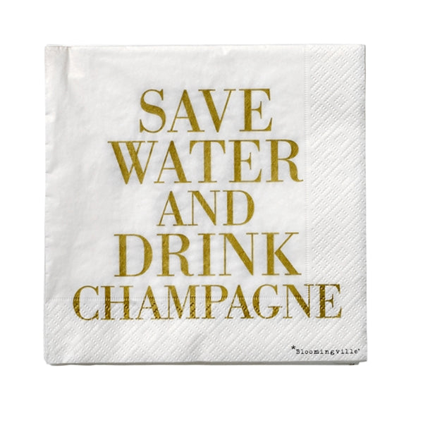 Bloomingville - Servietter - Save water... - The Nest Shop
