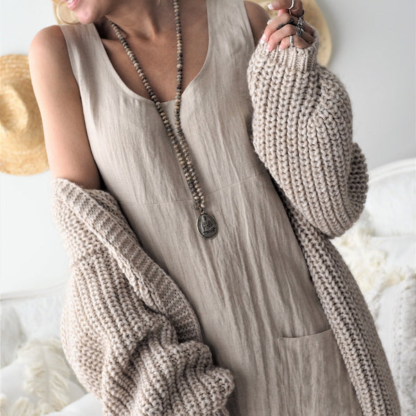 ByPias - Love Knit Cardigan - Beige - The Nest Shop